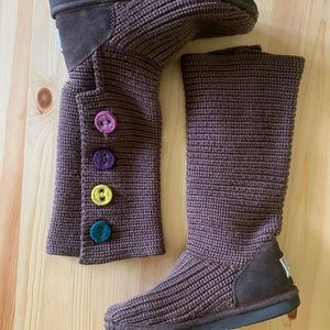 UGG Australia Knitted Boots Size 5/7